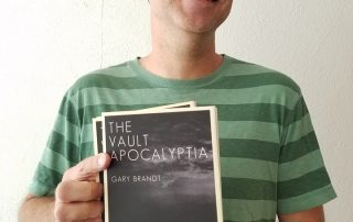 "Gary Brandt with his novel, ""The Vault Apocalyptia."" (Photo: facebook.com/NorthBayBohemian)"
