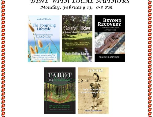 Dine with local authors in Santa Rosa on Feb. 13